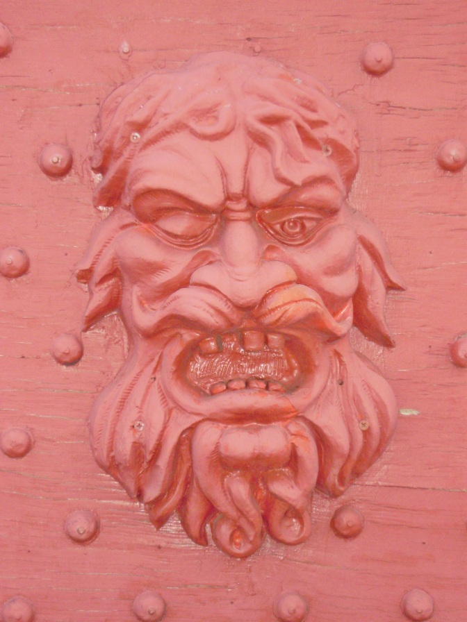 The Neptune, scary-faced detail