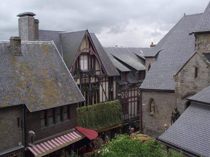 Rooftops of Mont St Michel