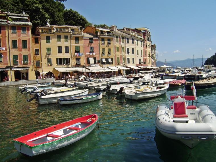 Fishing boats in Portofino