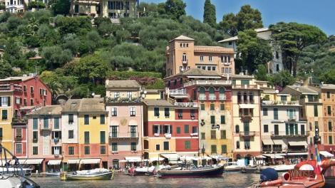 Pastel houses of Portofino