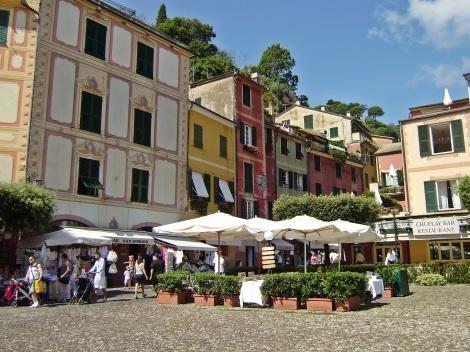 Piazzetta in Portofino, detail