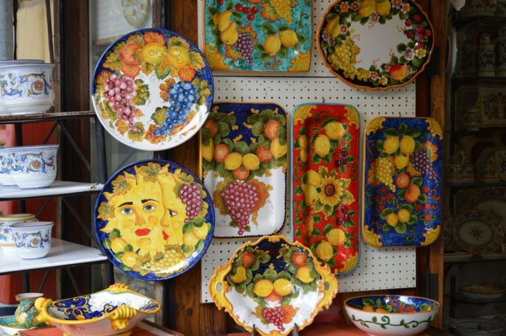 Colorful Sorrento souvenirs