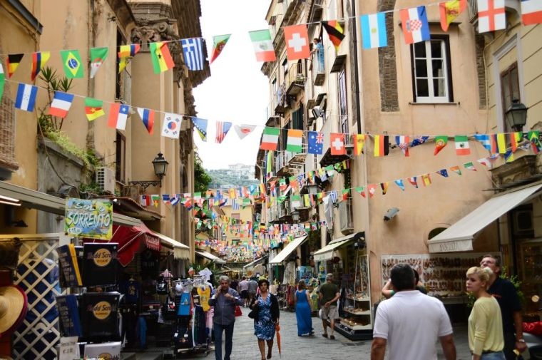 Narrow streets bustling with life
