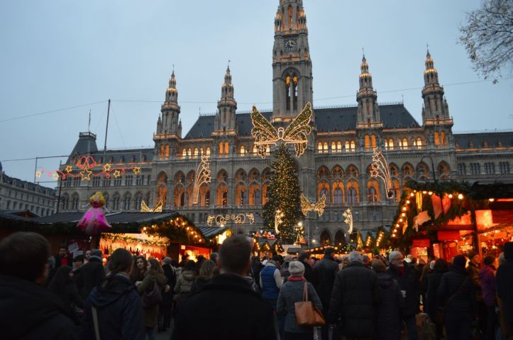 Christmas market in front of the City Hall, Vienna