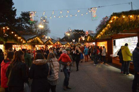 Christmas stalls, Vienna Christmas Market