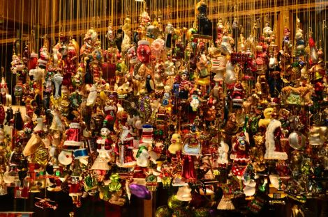 Christmas tree ornaments in all shapes and sizes