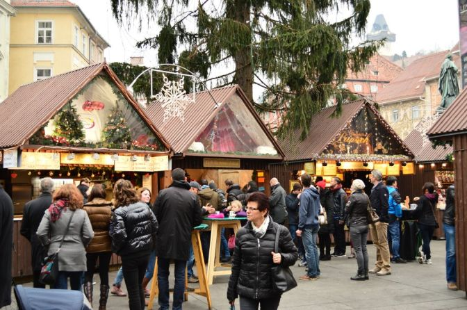Christmas Market stalls, Graz