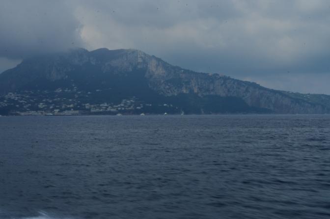 Approaching he island