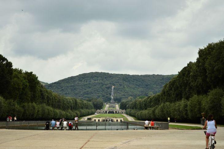 Vast expanse of palace gardens