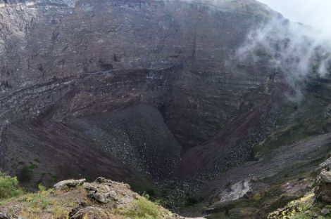 Center of the volcano