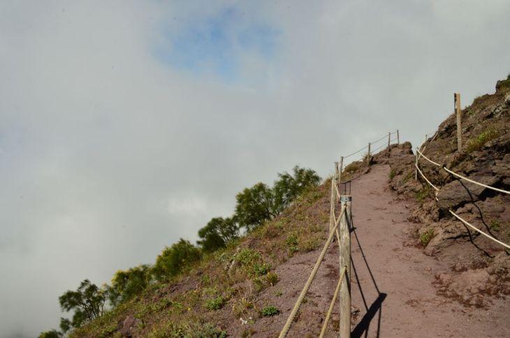 Misty mountains of the Vesuvius