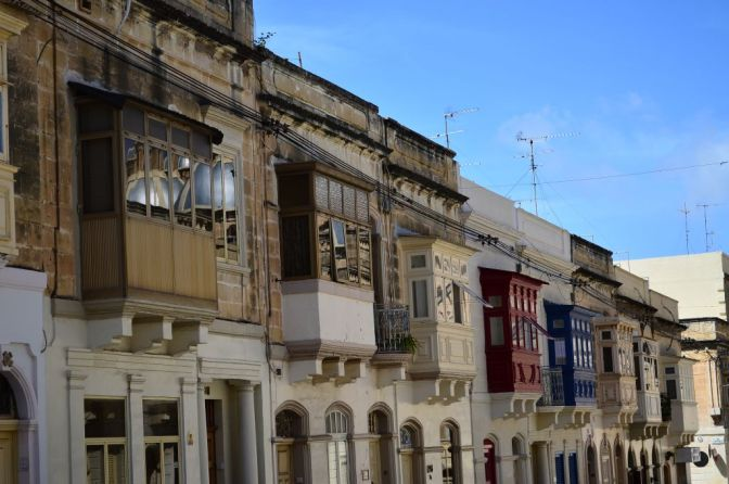 Balconies and windows of Malta