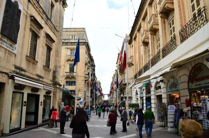 Republic street in Valletta