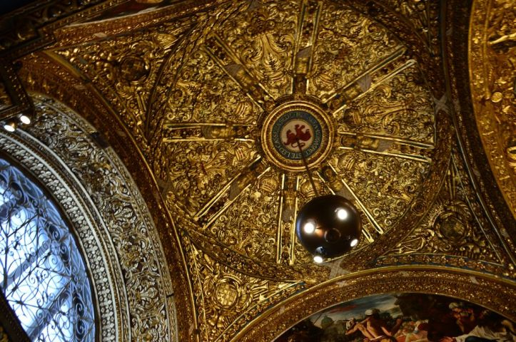 St John's Co-Cathedral, ceiling detail
