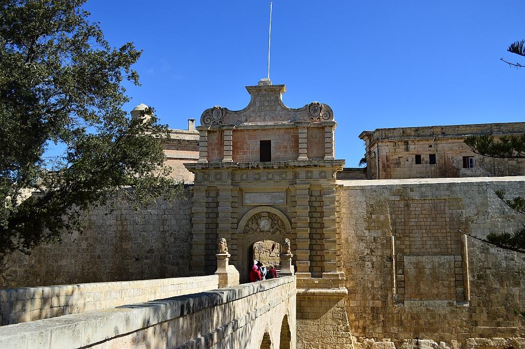 Mdina, city gate