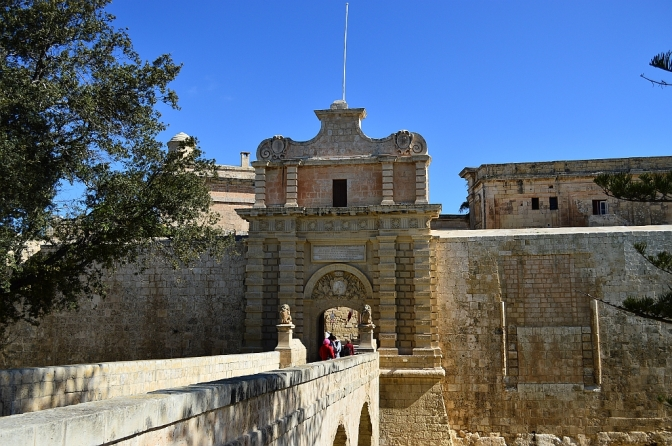Mdina, city gate