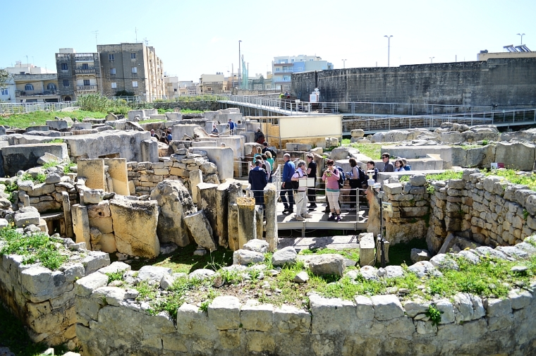 View onto the Tarxien complex
