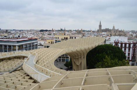 Las setas, the wooden construction