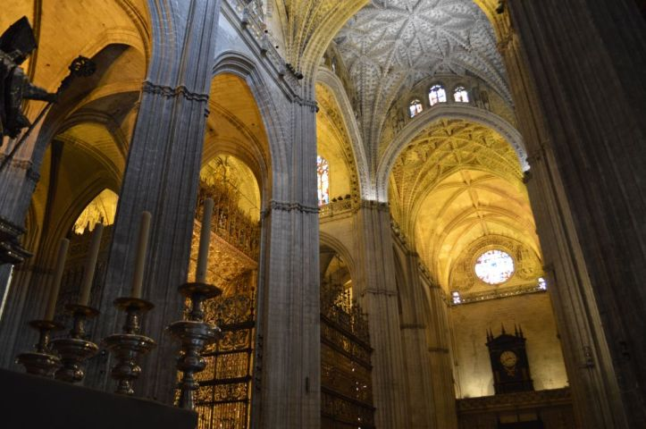 Vastness of the cathedral interior